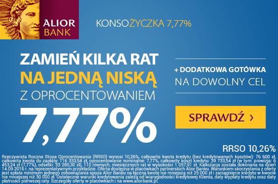 Alior Bank Konsożyczka 7,77%